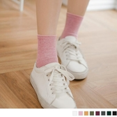 《ZB0476》韓國多色豎調紋素面好搭襪 OrangeBear