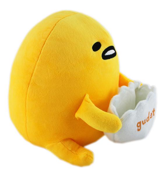 【卡漫城】 蛋黃哥 置物 玩偶 30CM ㊣版 絨毛 娃娃 布偶 手機座 擺飾 懶懶的 Gudetama Egg