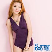 【SUMMERLOVE夏之戀】典雅連身三角泳衣-E12702