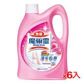 魔術靈地板清潔水漾玫瑰瓶裝2000ml*6入(箱)【愛買】