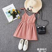 中小兒童公主裙洋氣裙子女童夏季洋裝時尚女孩夏裝 歐韓時代