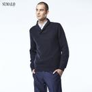 【ST.MALO】英倫紳士100%幼羊駝訂製款男毛衣-1812MK-曜石黑