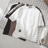 夏季短袖t恤男士寬鬆ins情侶半袖韓國潮衣服五分袖打底衫  【快速出貨】