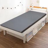 【KOTAS】竹炭平面記憶8公分床墊 單人 五尺-(灰)