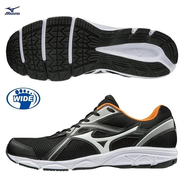 MIZUNO MAXIMIZER 21 男鞋 慢跑 健走 寬楦 透氣 耐磨 黑 橘【運動世界】K1GA200054