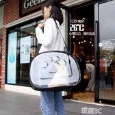 JD寵物背包透明貓包太空艙狗包貓箱貓籠子便攜外出包可折疊透氣貓包 玩趣3C
