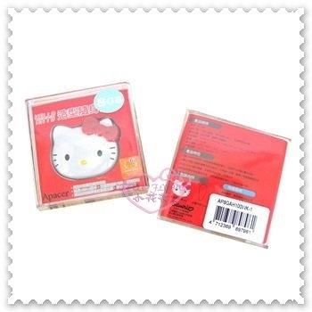 ♥小花花日本精品♥Hello Kitty 16G隨身碟紅色臉頭 3C週邊/防水防塵/輕巧/隨插即用21079603