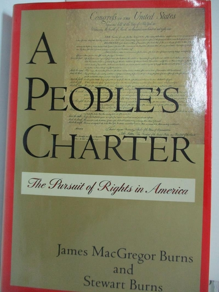 【書寶二手書T1/社會_EJV】A People s Charter: The Pursuit of Rights in America