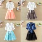 兩件式洋裝 裙子2020夏新款韓版時尚短...