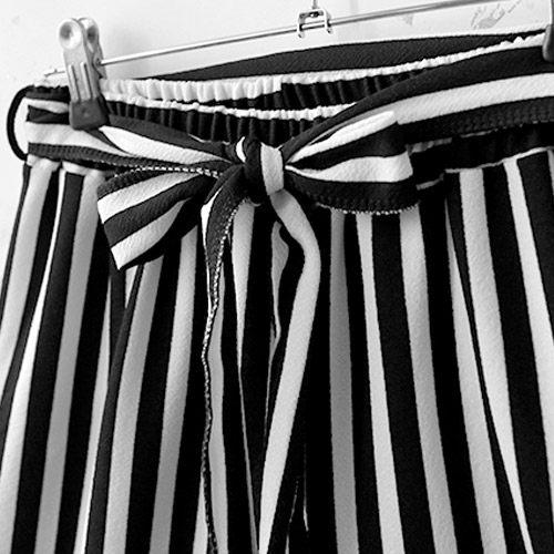 ★夏裝限定★MIUSTAR 親膚材質附綁帶直條壓紋棉質寬褲(共3色)【NF0795EX】預購