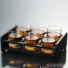 洋酒杯 玻璃杯子套裝威士忌酒杯家用水杯6只裝啤酒杯洋酒杯喝水杯子KTV 洛小仙女鞋