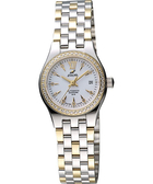 ENICAR 英納格 傳真系列時尚晶鑽機械女錶-白x雙色版 778-50-316GS