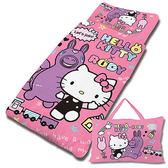 【享夢城堡】HELLO KITTY x RODY 歡樂時光系列-精梳棉冬夏兩用兒童睡袋(粉)