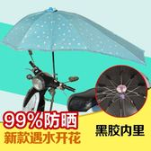 機車雨棚 電動車遮陽傘雨蓬摩托電瓶三輪車雨棚防曬防紫外線太陽傘加厚雨傘LX 智慧e家