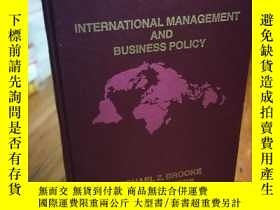 二手書博民逛書店International罕見management and bu