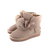 靴子 雪靴 短靴 粉紅色 女鞋 no356