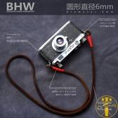 手工復古牦牛皮磨砂相機肩帶攝影微單背帶真皮繩【雲木雜貨】