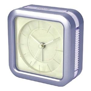 【HANDLE TIME】藝術玻璃雷射雕刻靜音鬧鐘珍珠紫
