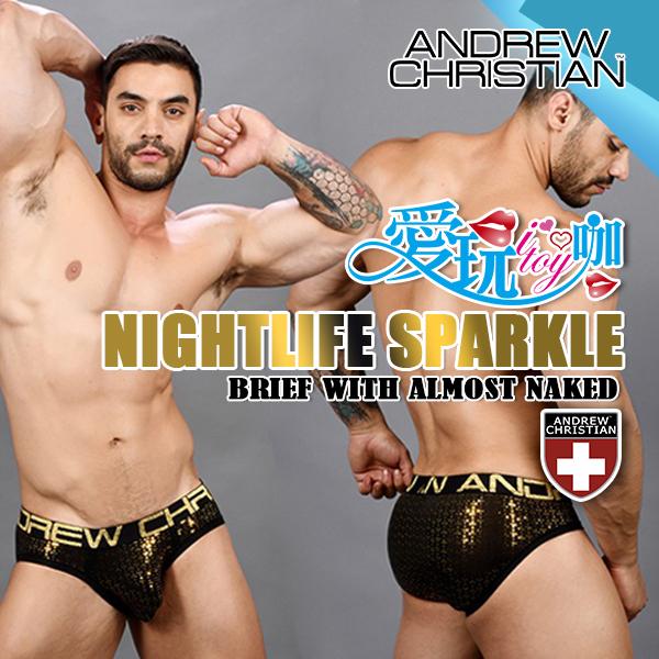 美國 ANDREW CHRISTIAN 閃耀夜生活性感三角褲 NIGHTLIFE SPARKLE BRIEF WITH ALMOST NAKED