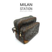 【台中米蘭站】LV 字紋 橫式 雙層 子母包 側背包