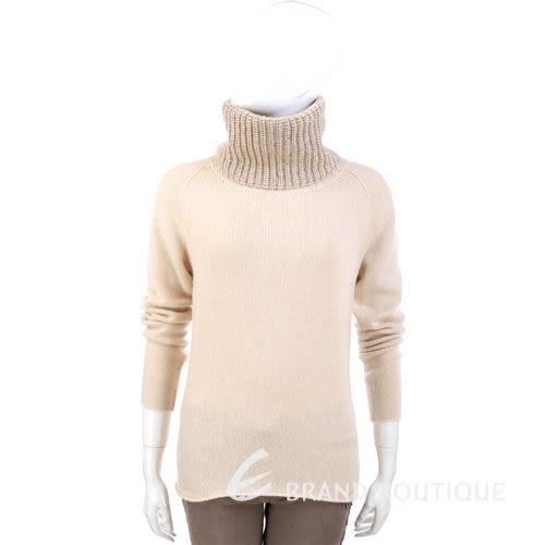 FABIANA FILIPPI 米色針織拼接設計高領長袖毛衣 1340327-40