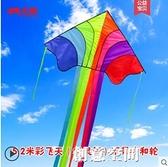 永健飛天彩虹風箏大人專用大型長尾高檔傘布成人特大巨型微風易飛 NMS創意新品