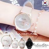 正韓LAVENDA莫內印象簡約太陽紋真皮手錶對錶【WLA302】璀璨之星☆