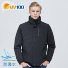 UV100 防曬 抗UV 防風防潑水-羽絨保暖兩件式外套-男