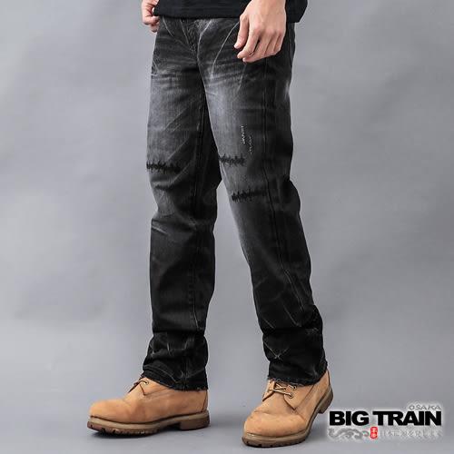 BIG TRAIN 街頭骷髏直筒褲-男-鐵灰