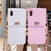 iPhone 7 Plus 斜挎鏈條零錢包 手機殼 保護套 錢包式 手機套 斜挎保護殼 鏈條簡約包包 iPhone7