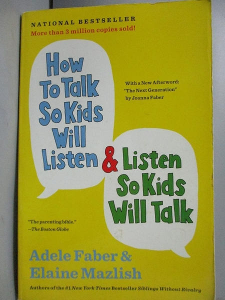 【書寶二手書T6/原文小說_GHV】How to Talk So Kids Will Listen & List