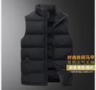 棉馬甲男外套棉襖子潮流棉衣背心加厚羽絨棉服秋冬季
