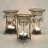 高檔家居鐵藝銅架爐大容量香薰燈精油蠟燭熏香燈 巴黎春天
