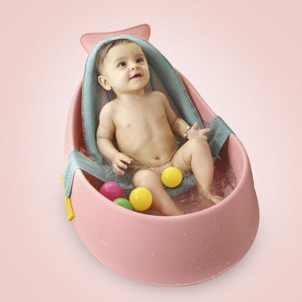 雅親嬰兒浴盆小號新生幼兒小孩大號沐浴可坐躺通用防滑寶寶洗澡盆