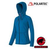 【MAMMUT 長毛象】女 Polartec® Themal Pro 刷毛保暖外套 深藍 1010-12300