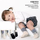 韓國黑白小貓止滑短筒襪 童襪 止滑襪 短襪 棉襪