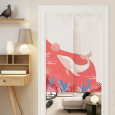 可愛時尚棉麻門簾E620 廚房半簾 咖啡簾 窗幔簾 穿杆簾 風水簾 (70cm寬*150cm高)