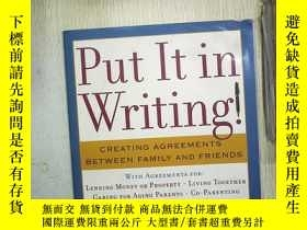 二手書博民逛書店PUT罕見IT IN WRITING (006)Y180897