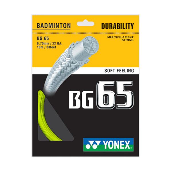 Yonex Bg-65 Badminton String [BG65-004] 羽線 鈦金屬 日本製 優乃克 黃