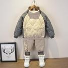 男童套裝 小童棉衣套裝2019新款童裝男童兒童冬裝加絨棉服兒童秋冬兩件套潮【快速出貨】