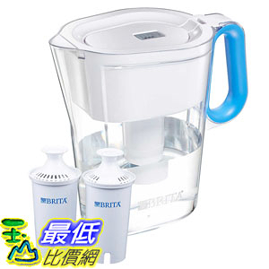 [106美國直購] Brita Wave Pitcher with 2 Advanced Filters - Assorted Colors Available