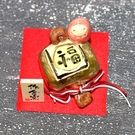不倒翁與金福槌 陶瓷小物 作舍日本製 5...