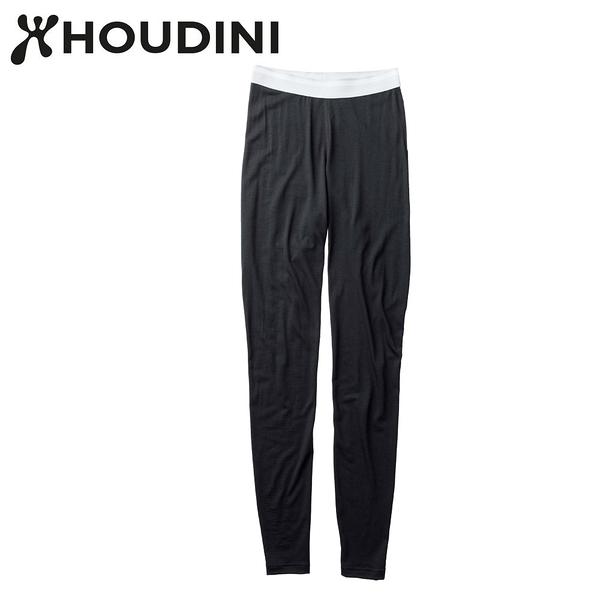 瑞典【Houdini】W`s Desoli tight 女款美麗諾羊毛保暖內層褲 純黑