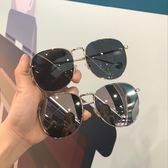 (中秋大放價)太陽眼鏡潮流眼鏡女小臉復古金屬墨鏡男女圓形太陽鏡遮陽開車專用太陽眼鏡
