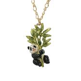 〔APM飾品〕日本Palnart poc 貪食竹葉黑白貓熊項鍊
