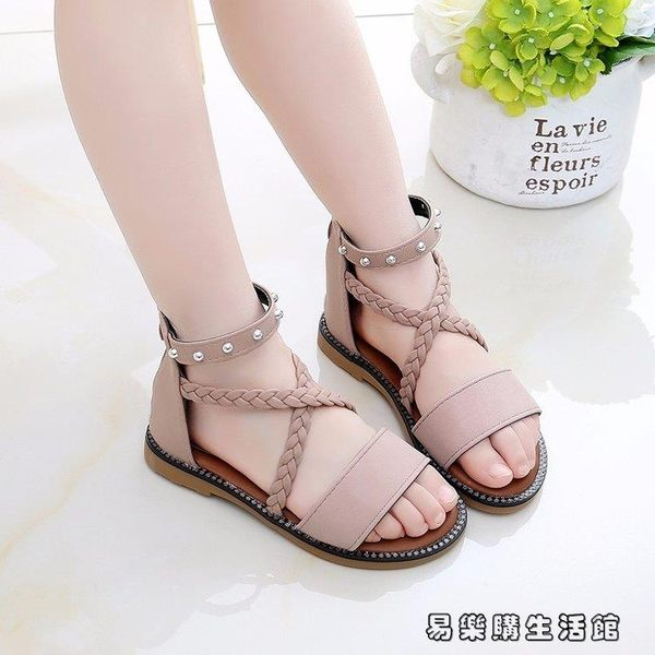 中大童女童羅馬鞋夏季百搭兒童鞋子