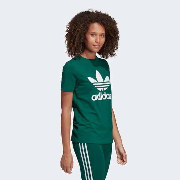 ADIDAS TREFOIL T-SHIRT 女裝 短袖 休閒 慢跑 經典 基本款 棉質 綠 白【運動世界】DV2597