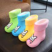 兒童雨鞋男童女童寶寶雨靴保暖公主防滑水鞋學生加絨膠鞋小孩雨鞋【週年慶免運八折】