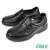 【GOLF】手工氣墊舒適商務鞋 黑色(GF2518-BL)