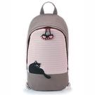 愜意黑貓斜後背包/手提包/拼布包包